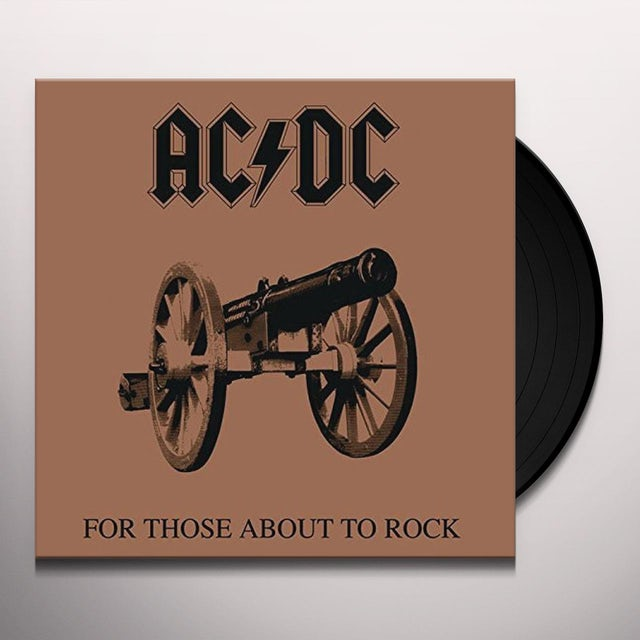 AC/DC FOR THOSE ABOUT TO ROCK Vinyl Record