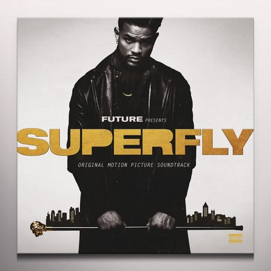 Future SUPERFLY / Original Soundtrack - Silver w / Black & Gold Smoke Colored Vinyl Record