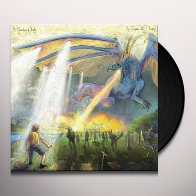 The Mountain Goats IN LEAGUE WITH DRAGONS (DRAGONSCALE SLIPCASE) Vinyl Record
