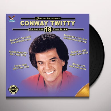 Conway Twitty GREATEST 18 TOP HITS Vinyl Record