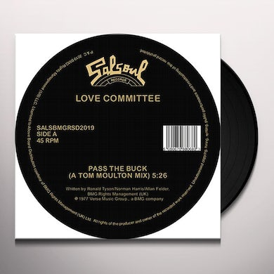 Love Committee PASS THE BUCK (TOM MOULTON MIX / JOE CLAUSSELL) Vinyl Record