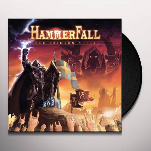 HammerFall ONE CRIMSON NIGHT (LIVE) Vinyl Record