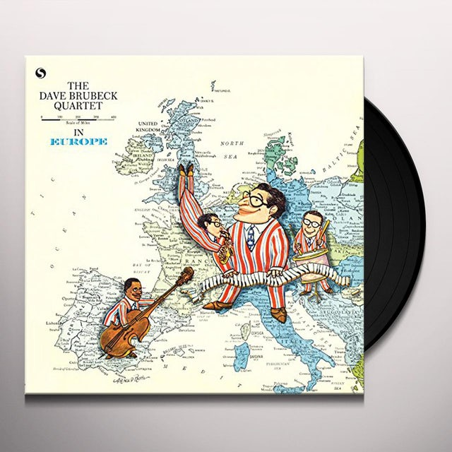 Dave Brubeck IN EUROPE: LIVE IN COPENHAGEN MARCH 5 1958 Vinyl Record - 180 Gram Pressing