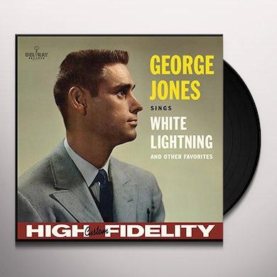 George Jones SINGS WHITE LIGHTNING & OTHER FAVORITES Vinyl Record