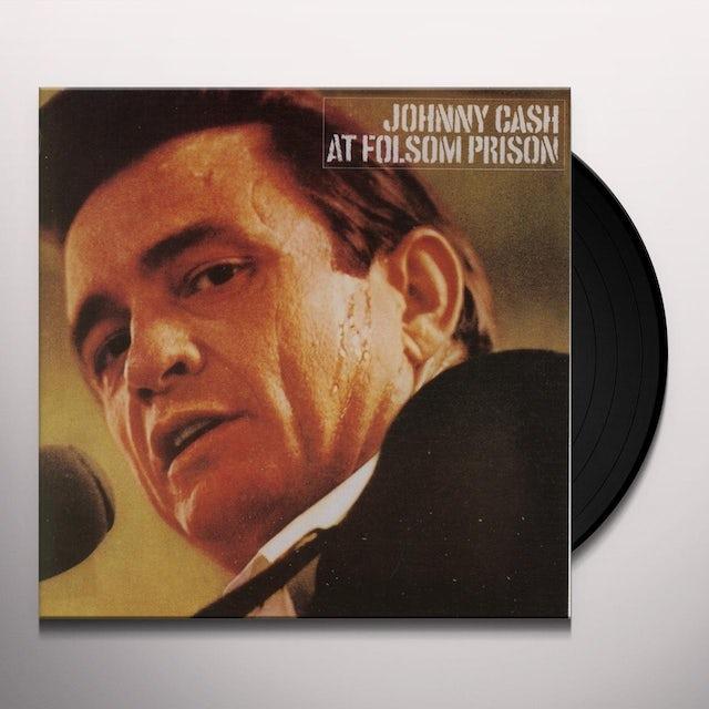 Johnny Cash AT FOLSOM PRISON Vinyl Record - 180 Gram Pressing