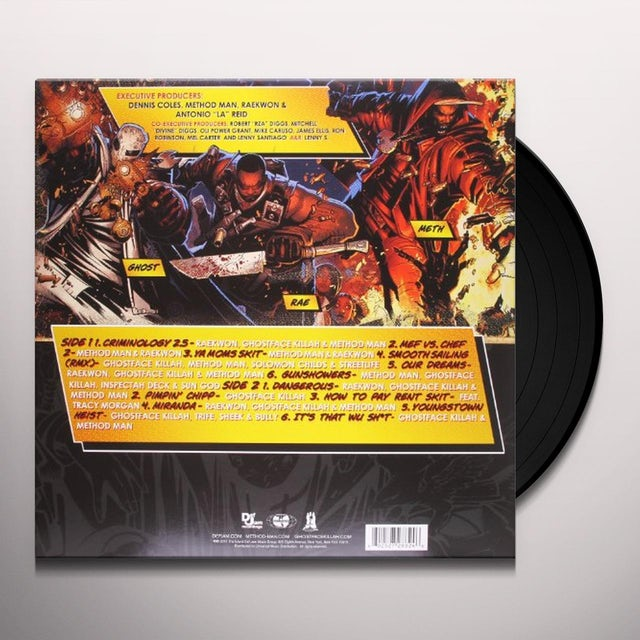 Meth / Ghost / Rae WU MASSACRE Vinyl Record
