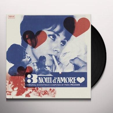 Piero Piccioni 3 NOTTI D'AMORE (3 NIGHTS OF LOVE) Vinyl Record