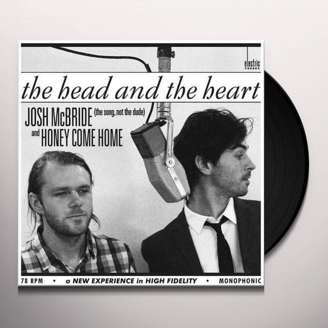The Head and the Heart JOSH MCBRIDE / HONEY COME HOME Vinyl Record