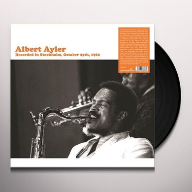 Albert Ayler RECORDED IN STOCKHOLM Vinyl Record