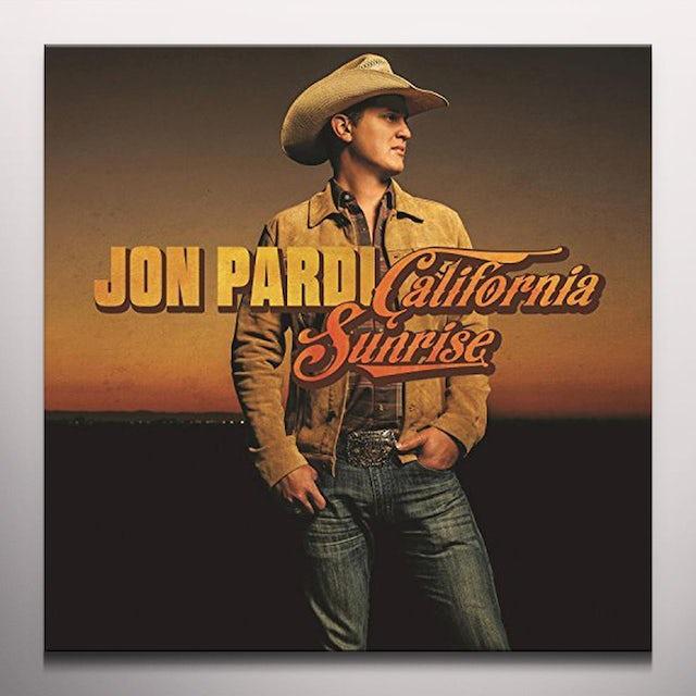 Jon Pardi CALIFORNIA SUNRISE - Limited Edition Orange Colored Vinyl Record
