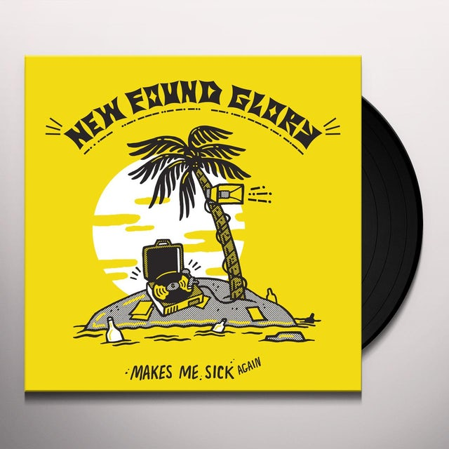 New Found Glory MAKES ME SICK AGAIN - Limited Edition Pink w/ Yellow Splatter Colored Vinyl Record
