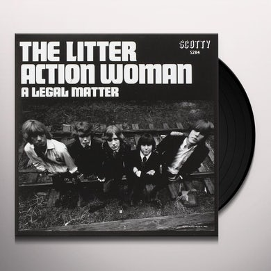 The Litter ACTION WOMAN / A LEGAL MATTER Vinyl Record