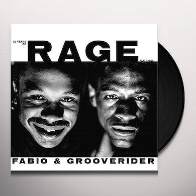 Fabio & Grooverider 30 YEARS OF RAGE PART 3 Vinyl Record