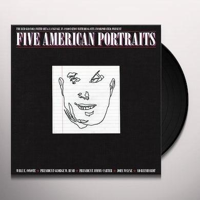 The Red Krayola FIVE AMERICAN PORTRAITS Vinyl Record