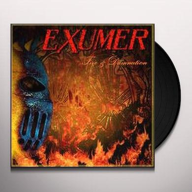 Exumer FIRE & DAMNATION Vinyl Record - UK Release