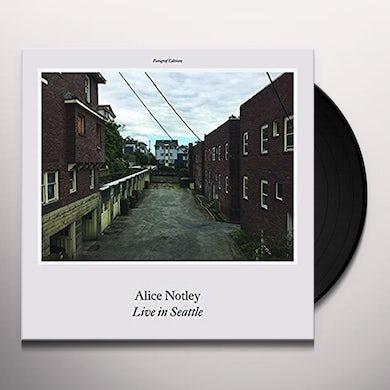 Alice Notley LIVE IN SEATTLE Vinyl Record