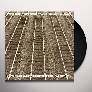 Steve Reich DIFFERENT TRAINS / ELECTRIC COUNTERPOINT Vinyl Record