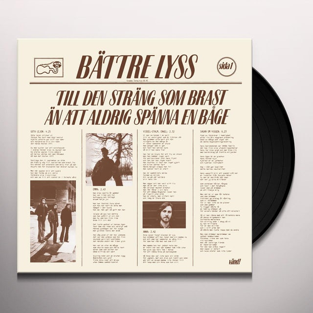 Battre Lyss TILL DEN STRANG SOM BRAST AN ATT ALDRIG SPANNA Vinyl Record