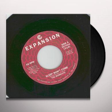 Moments SLEEP WON'T COME / IT DON'T RAIN IN MY BACKYARD Vinyl Record