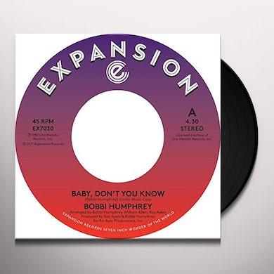 Bobbie Humphrey BABY DON'T YOU KNOW Vinyl Record
