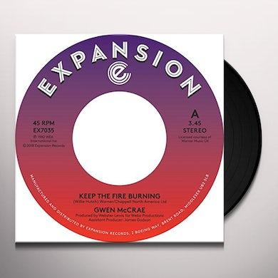 Gwen Mccrae KEEP THE FIRE BURNING / FUNKY SENSATION Vinyl Record