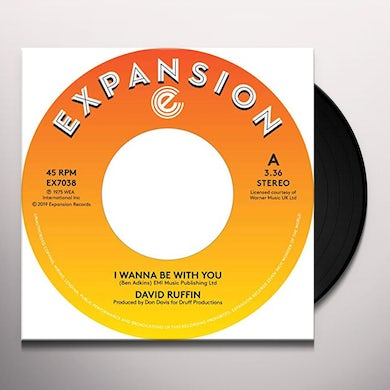 David Ruffin I WANNA BE WITH YOU Vinyl Record