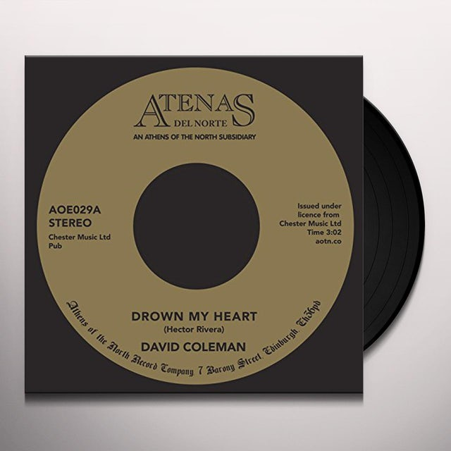 David Coleman DROWN MY HEART Vinyl Record
