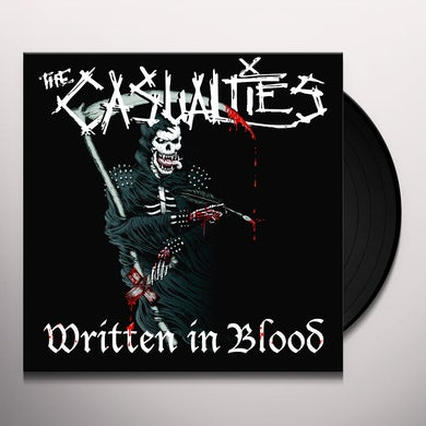 The Casualties WRITTEN IN BLOOD Vinyl Record