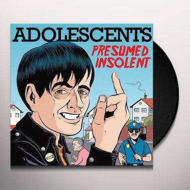 Adolescents PRESUMED INSOLENT Vinyl Record - Limited Edition