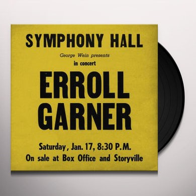 Errol Garner SYMPHONY HALL CONCERT Vinyl Record