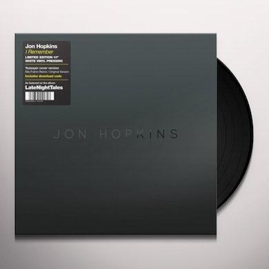 Jon Hopkins REMEMBER (NILS FRAHM REMIX) Vinyl Record