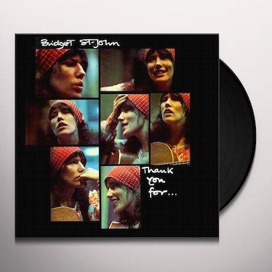 Bridget St John THANK YOU FOR Vinyl Record