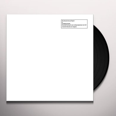 THROBBING GRISTLE SECOND ANNUAL REPORT Vinyl Record