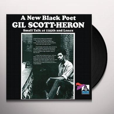 Gil Scott-Heron SMALL TALK AT 125TH & LENOX Vinyl Record - UK Release