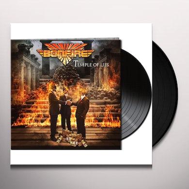 Bonfire TEMPLE OF LIES (BLACK VINYL) Vinyl Record - Black Vinyl, Gatefold Sleeve, Limited Edition