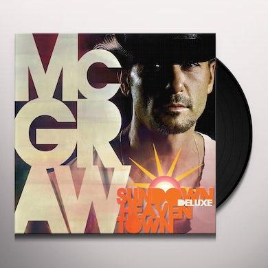 Tim McGraw SUNDOWN HEAVEN TOWN Vinyl Record