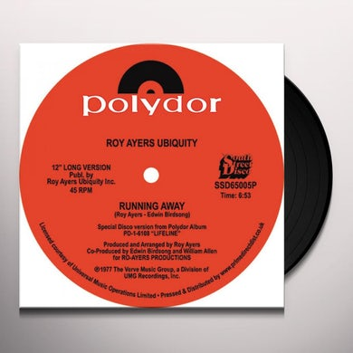 Roy Ayers Ubiquity RUNNING AWAY / LOVE WILL BRING US BACK TOGETHER Vinyl Record