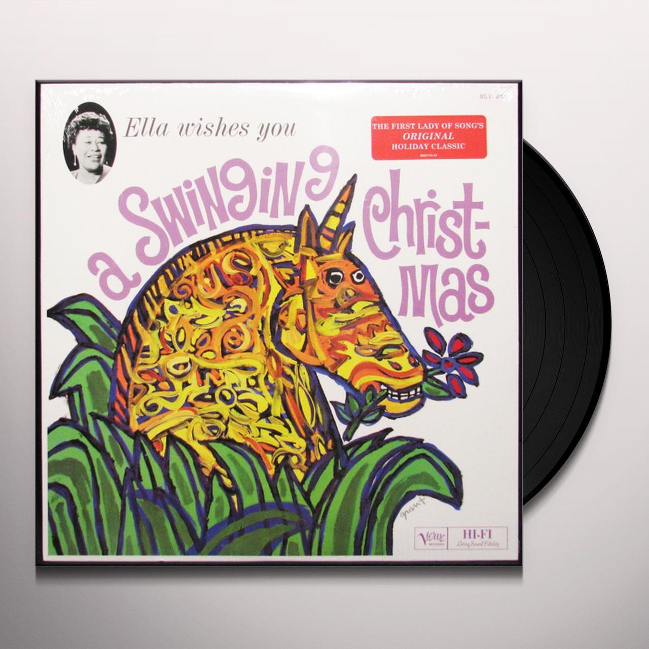 Ella Wishes You A Swinging Christmas.Ella Fitzgerald Wishes You A Swinging Christmas Vinyl Record