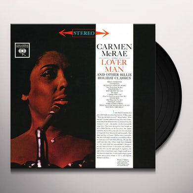 Carmen McRae SINGS LOVER MAN & OTHER BILLIE HOLIDAY CLASSICS Vinyl Record
