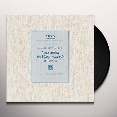 Pierre Fournier Bach: 6 Cello Suites Vinyl Record