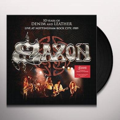 Saxon 10 YEARS OF DENIM & LEATHER: LIVE NOTTINGHAM ROCK Vinyl Record