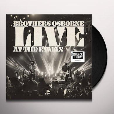 Brothers Osborne LIVE AT THE RYMAN Vinyl Record