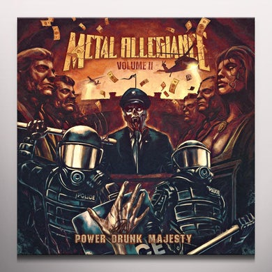 Metal Allegiance VOLUME II: POWER DRUNK MAJESTY - Limited Edition Black & ORange Colored Vinyl Record