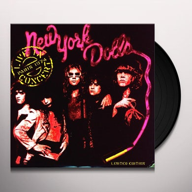 New York Dolls LIVE IN PARIS Vinyl Record