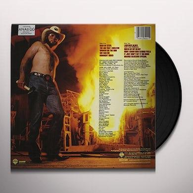 Hank Williams Jr. MAN OF STEEL Vinyl Record