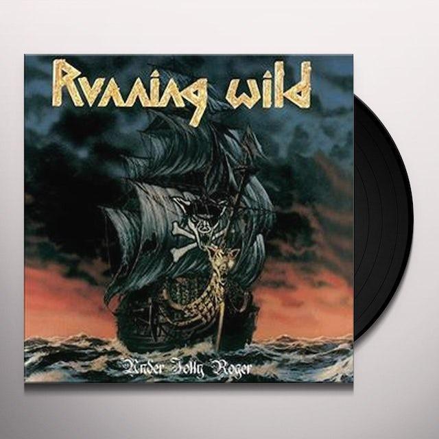 Running Wild UNDER JOLLY ROGER Vinyl Record
