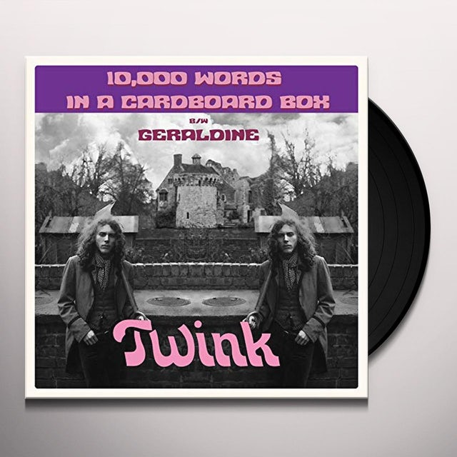 Twink 10,000 WORDS IN A CARDBOARD BOX Vinyl Record