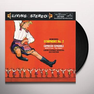 Jean Martinon BORODIN: SYMPHONY NO. 2 / RIMSKY-KORSAKOV: CAPRICO Vinyl Record