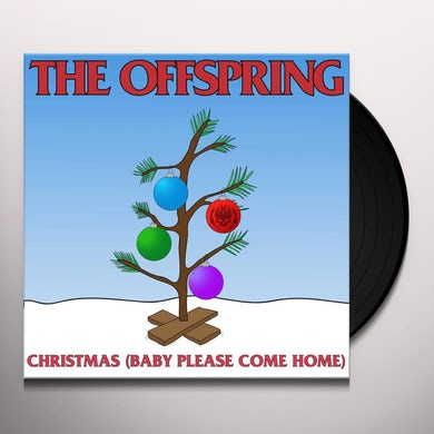 """The Offspring Christmas (Baby Please Come Home) (7""""Single) (Opaque Red) Vinyl Record"""