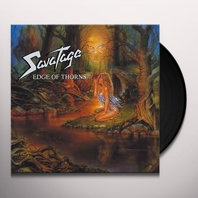 Savatage EDGE OF THORNS Vinyl Record - UK Release